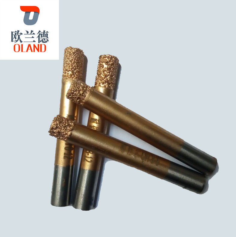 Gold Surface Granite Carving Tools , Vacuum Brazed Diamond Tools CE Assured